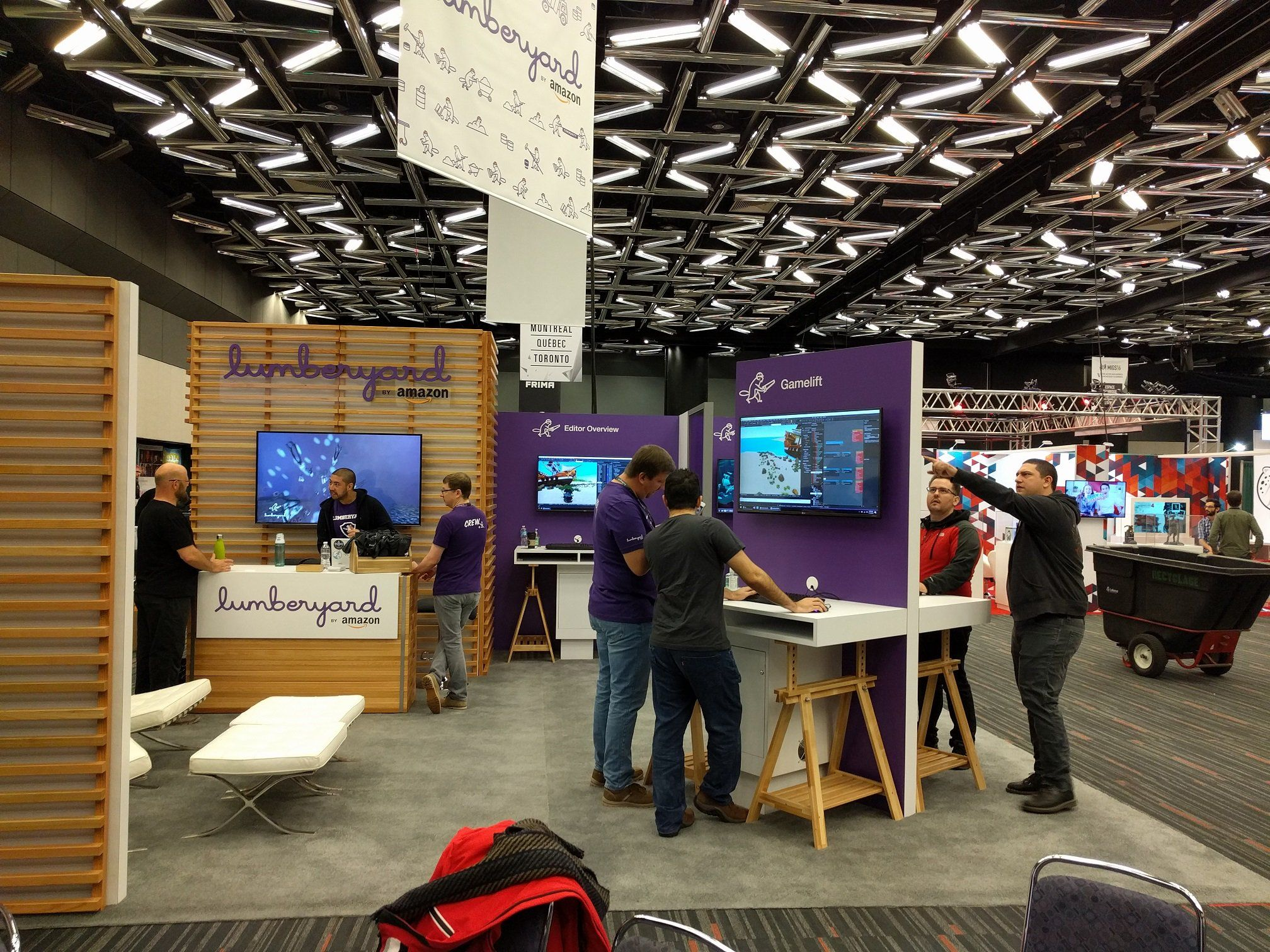 GameDeveloper4u: #gamedev #Lumberyard at MIGS__ running through final setup. Excited to talk with all the #Montre http://pic.twitter.com/BpGmIKp6mq   Game Designer World (@LoveDesignGame) November 13 2016