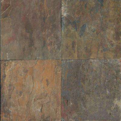 12x12 Natural Stone Tile Tile The Home Depot Tile Floor Slate Flooring Flooring