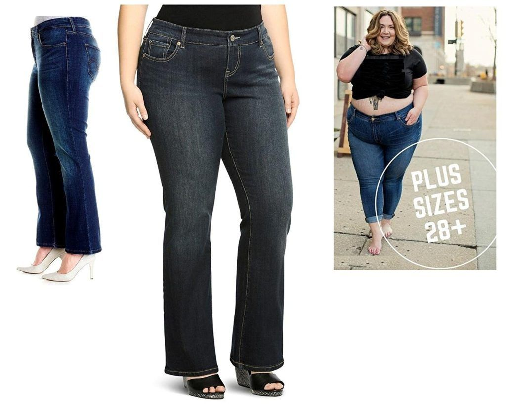 NEW Plus Size 16 18 20 22 24 26 Womens Blue Skinny Stretch Jeans Ripped Slim