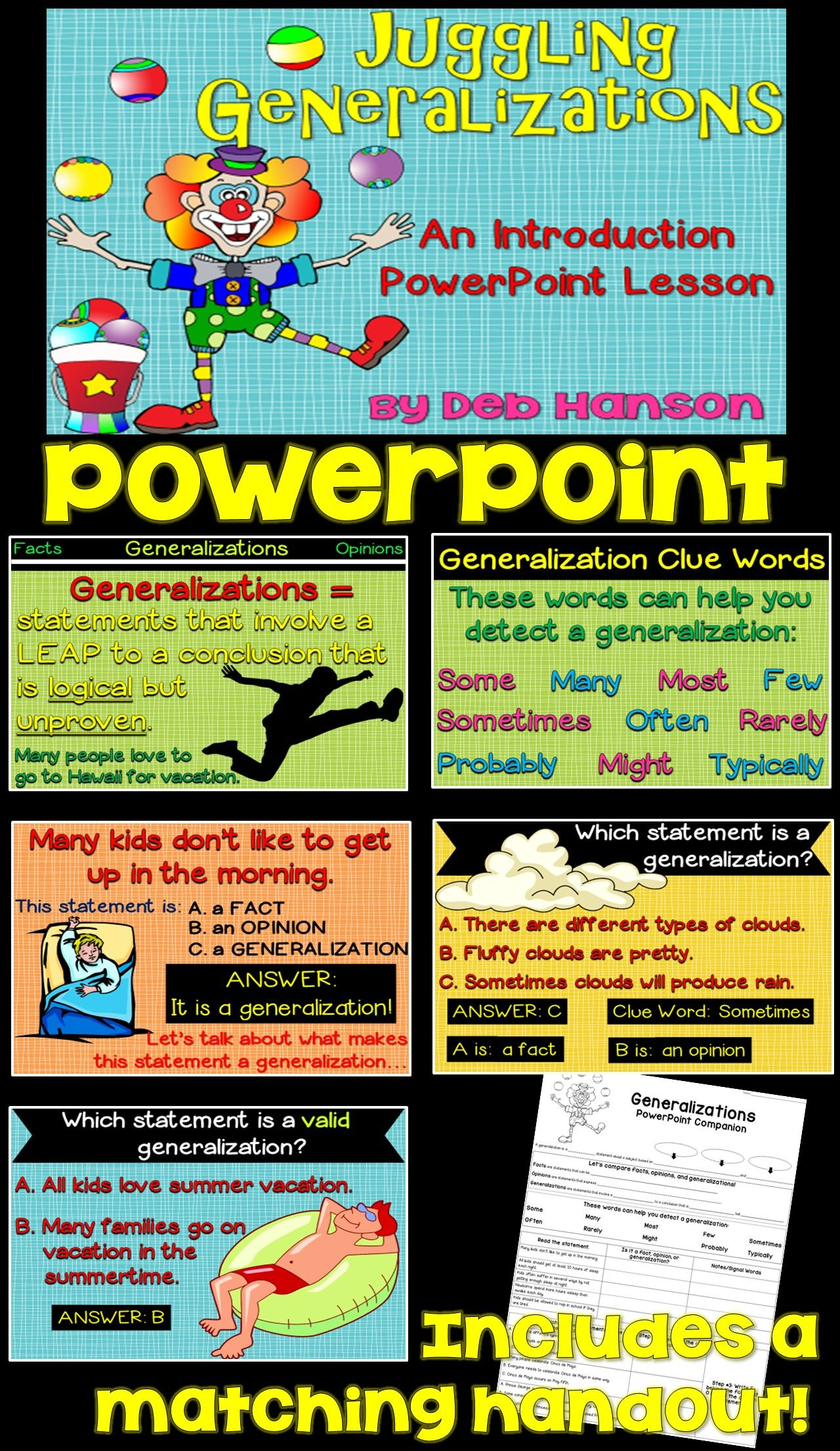 Generalizations Powerpoint With Images