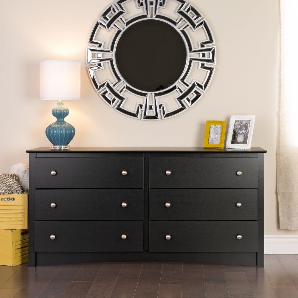 Prepac Sonoma 6 Drawer Black Dresser Bdc 6330 K 6 Drawer Dresser