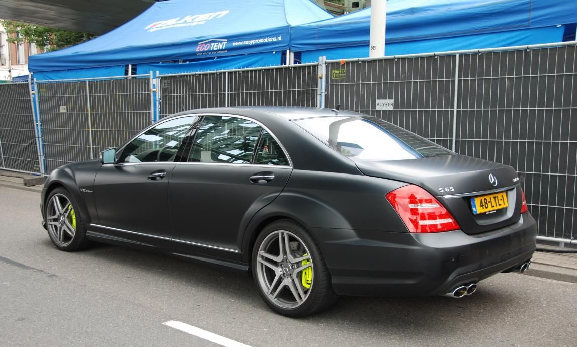 Mercedes s65 amg matte black custom you are what you for Mercedes benz matte black