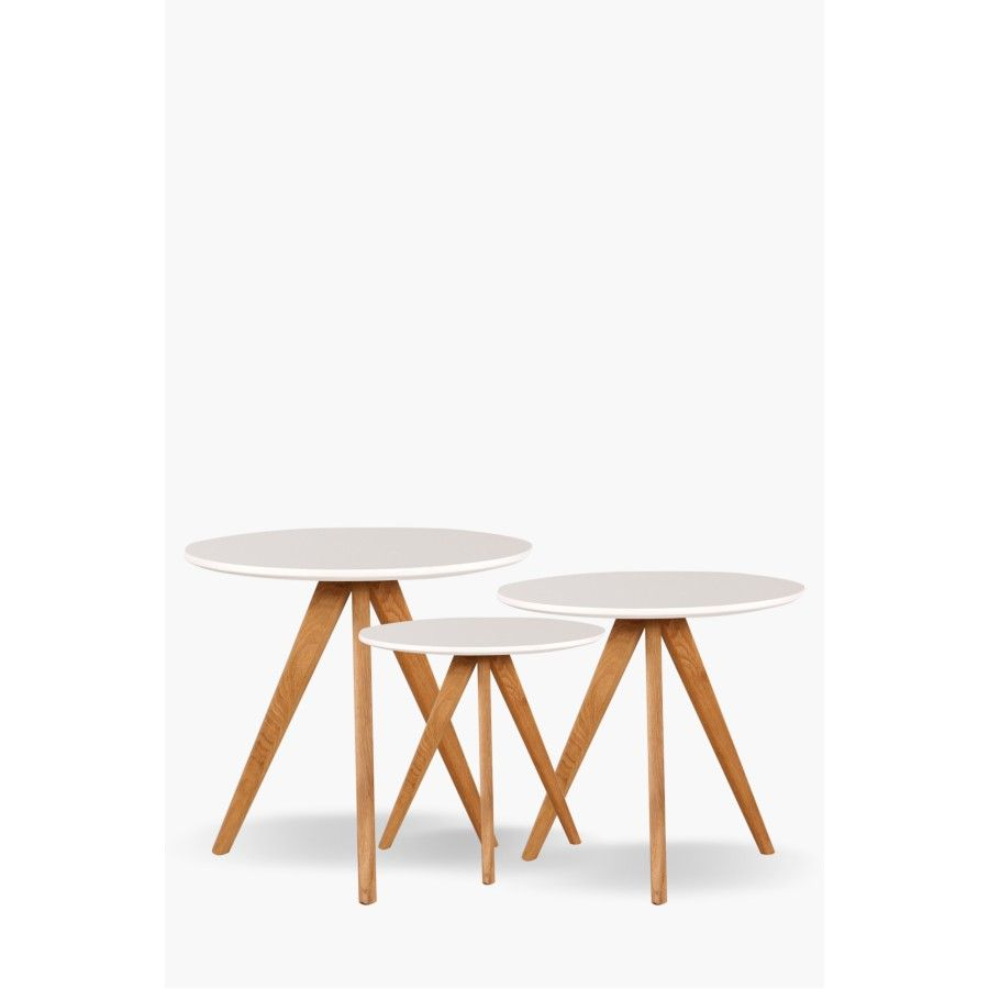 Clean Lines And An Urban Contemporary Look The Stockholm Nested Side Tables Are A Stylish