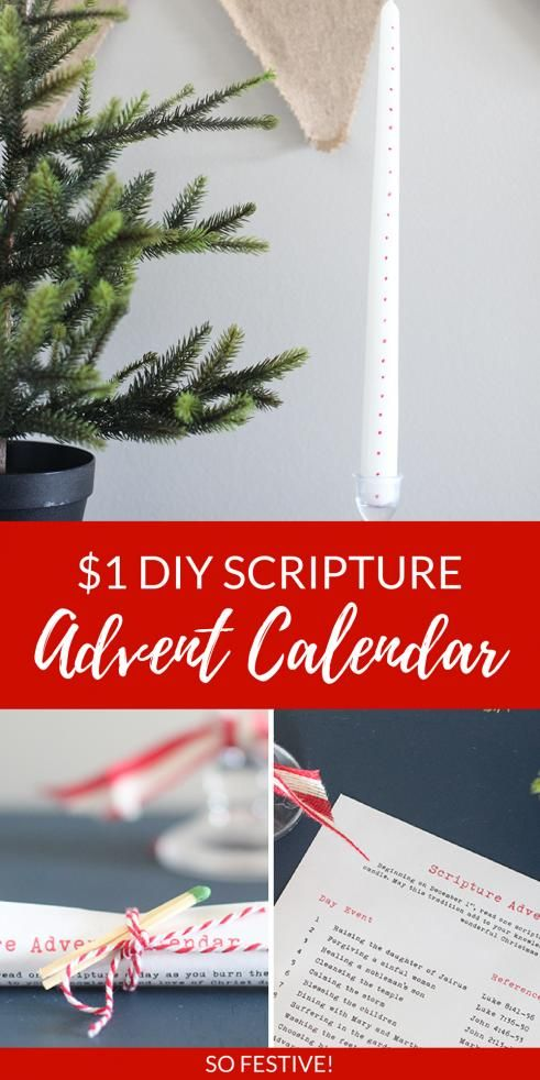 Cheap Christmas Gift Idea- Scripture Advent Candle #christmasgiftideas #cheap #christmas #gift #ideas