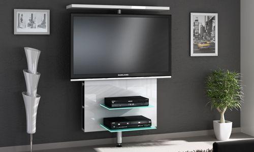 Ideas Para Montar Tu Pantalla De Tv Led Y Dvd Decodificador En La Pared Televisores En La Pared Muebles Para Tv Mueble De Television Moderno