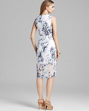 Cynthia Steffe Dress - Riva Sleeveless Silk Georgette Print | Bloomingdale's