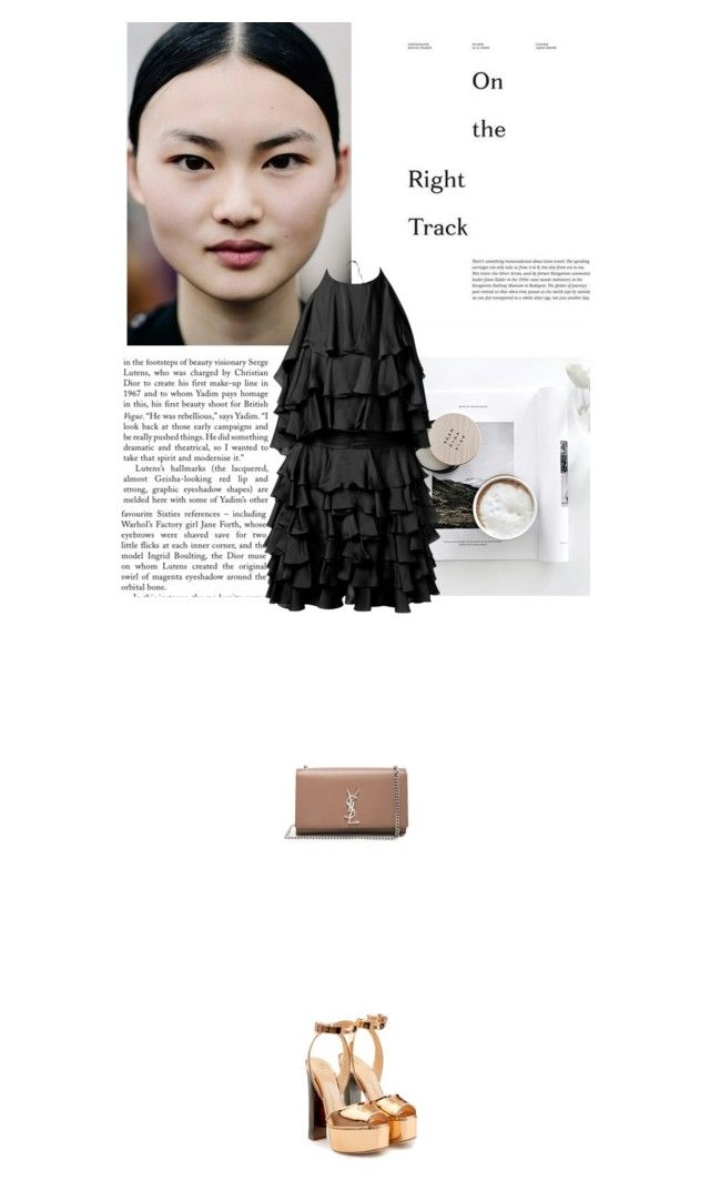 """""""Fashion party"""" by janchy1 ❤ liked on Polyvore featuring Libertine, Yves Saint Laurent, Giuseppe Zanotti and Balmain"""