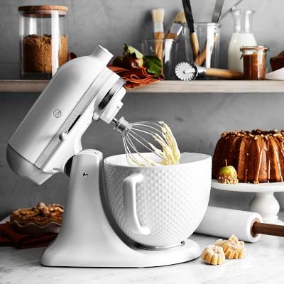 Kitchenaid Artisan White Mixer With Hobnail Bowl In 2019