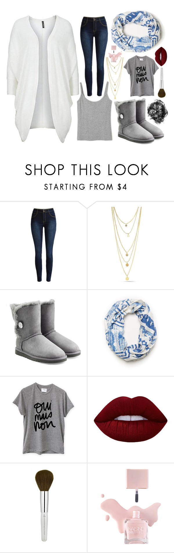"""Untitled 26"" by laurenthewolf ❤ liked on Polyvore featuring UGG, Sincerely, Jules and Lime Crime"