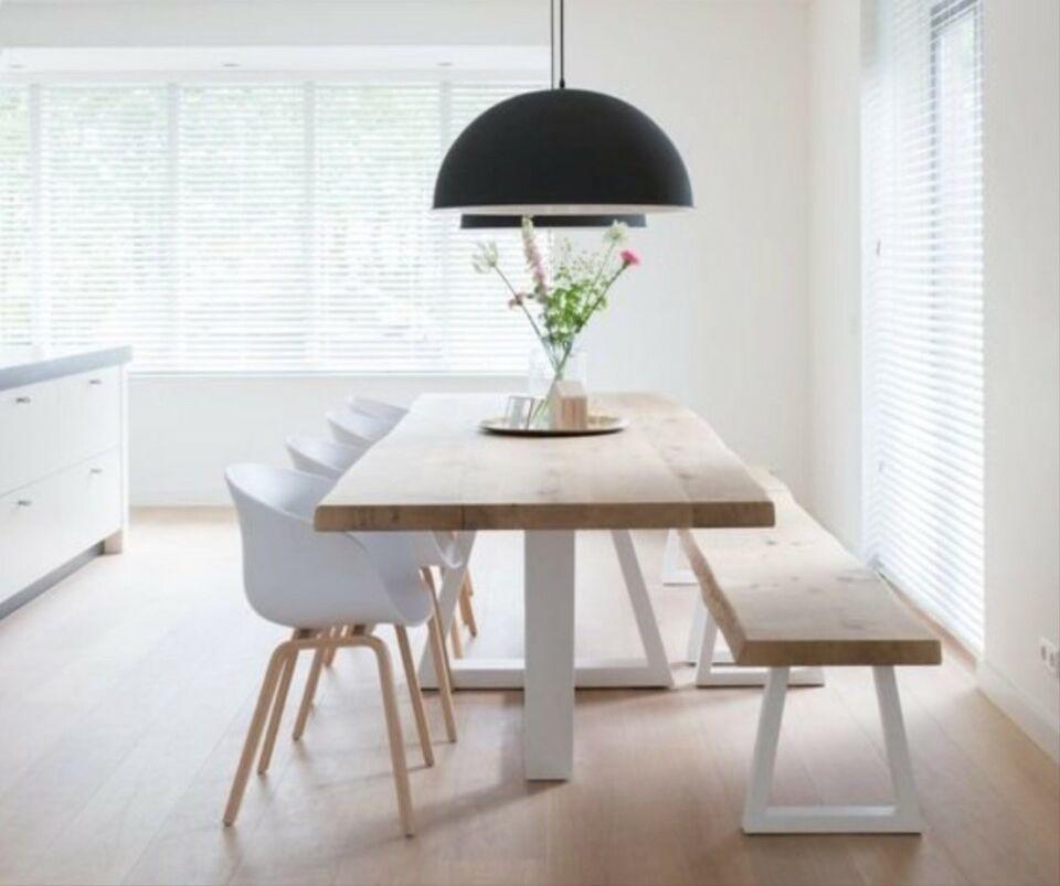 Modern neu eichebaum 220x100 4cm massiv holz esstisch