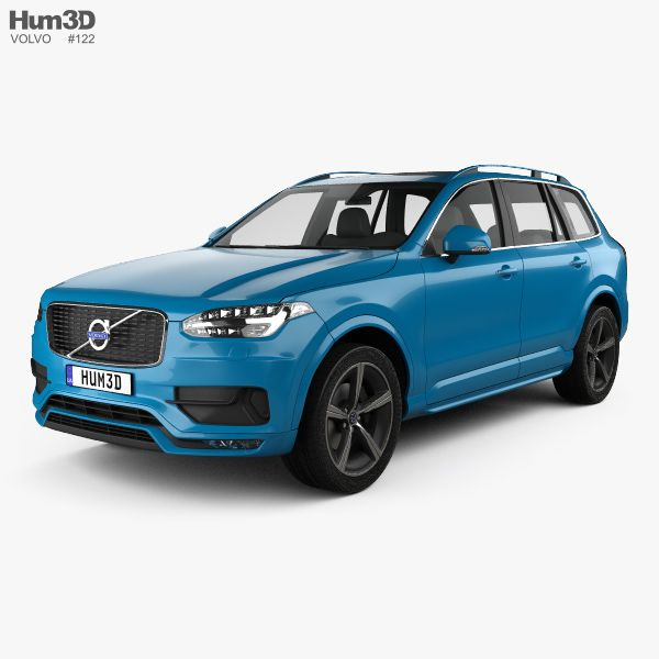 3D Model Of Volvo XC90 D5 R-Design 2016