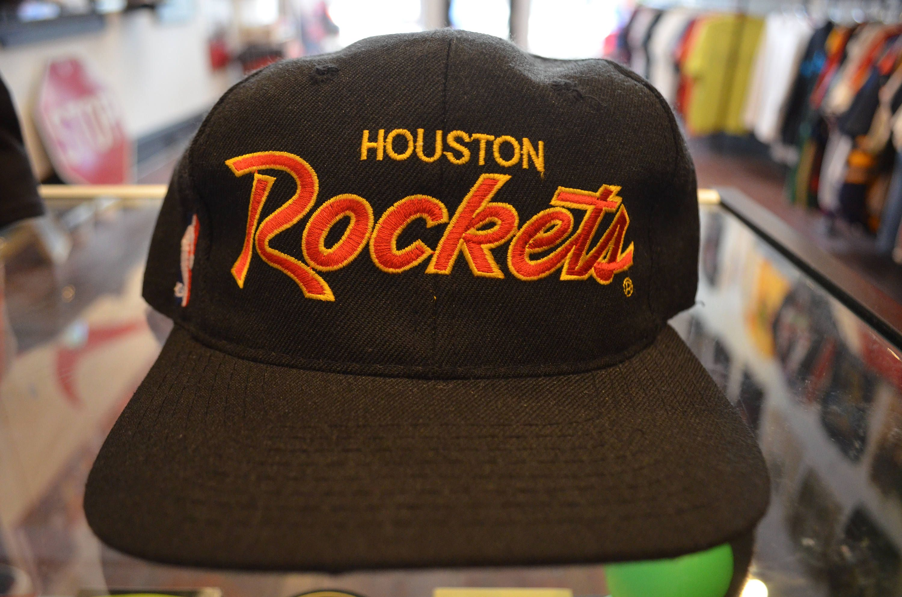 787e4bd43fb Vintage 90s Sports Specialties Script Houston Rockets NBA Unisex Snapback  Hat by RadOTR on Etsy