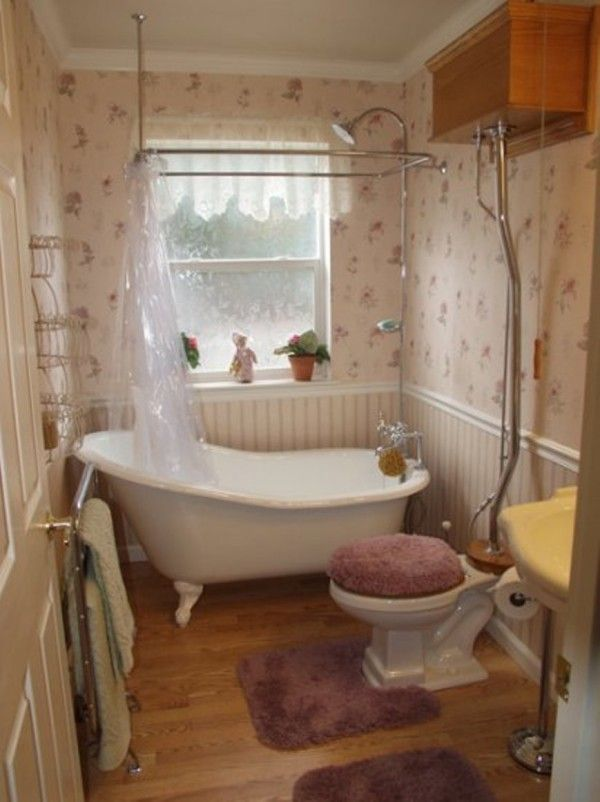 Bathroom Decorating Ideas With Clawfoot Tub ideas amazing country style bathroom tile ideas with floral