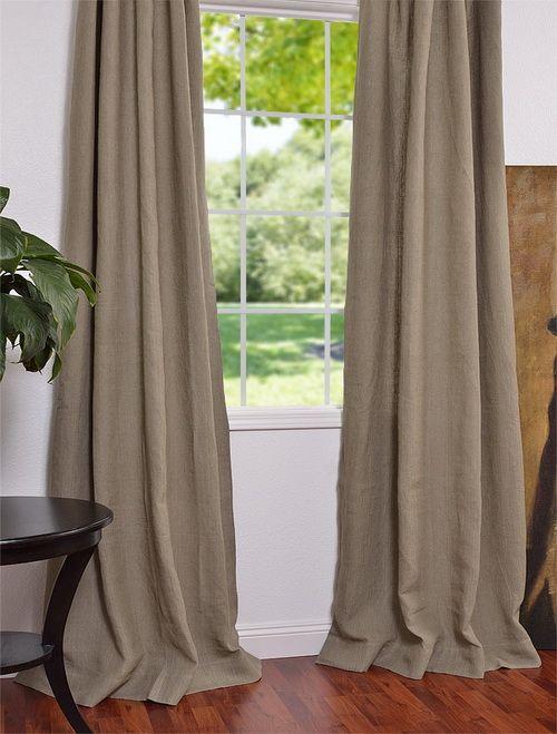 Burlap French Linen Drapes Amp Curtains Burlap Curtains