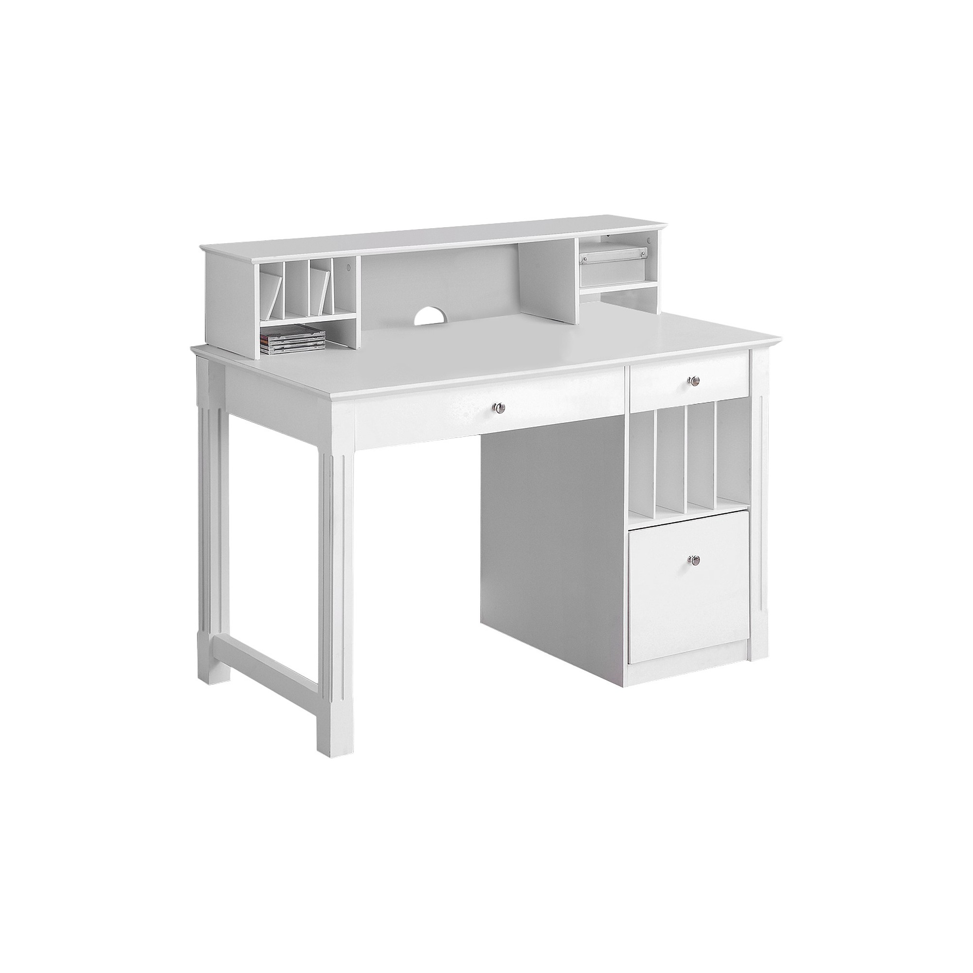 Astonishing Home Office Deluxe White Wood Storage Computer Desk With Download Free Architecture Designs Scobabritishbridgeorg