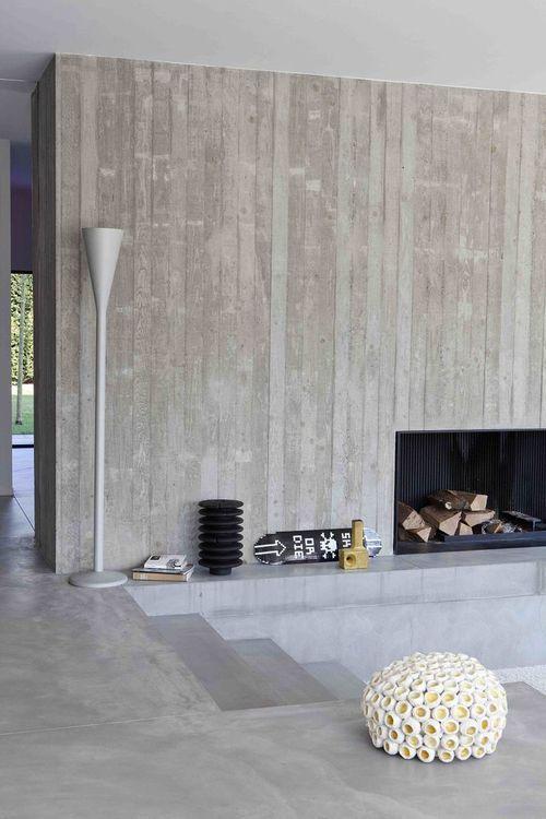 Hart Concrete Design Wall Texture Design Concrete Fireplace Concrete Interiors