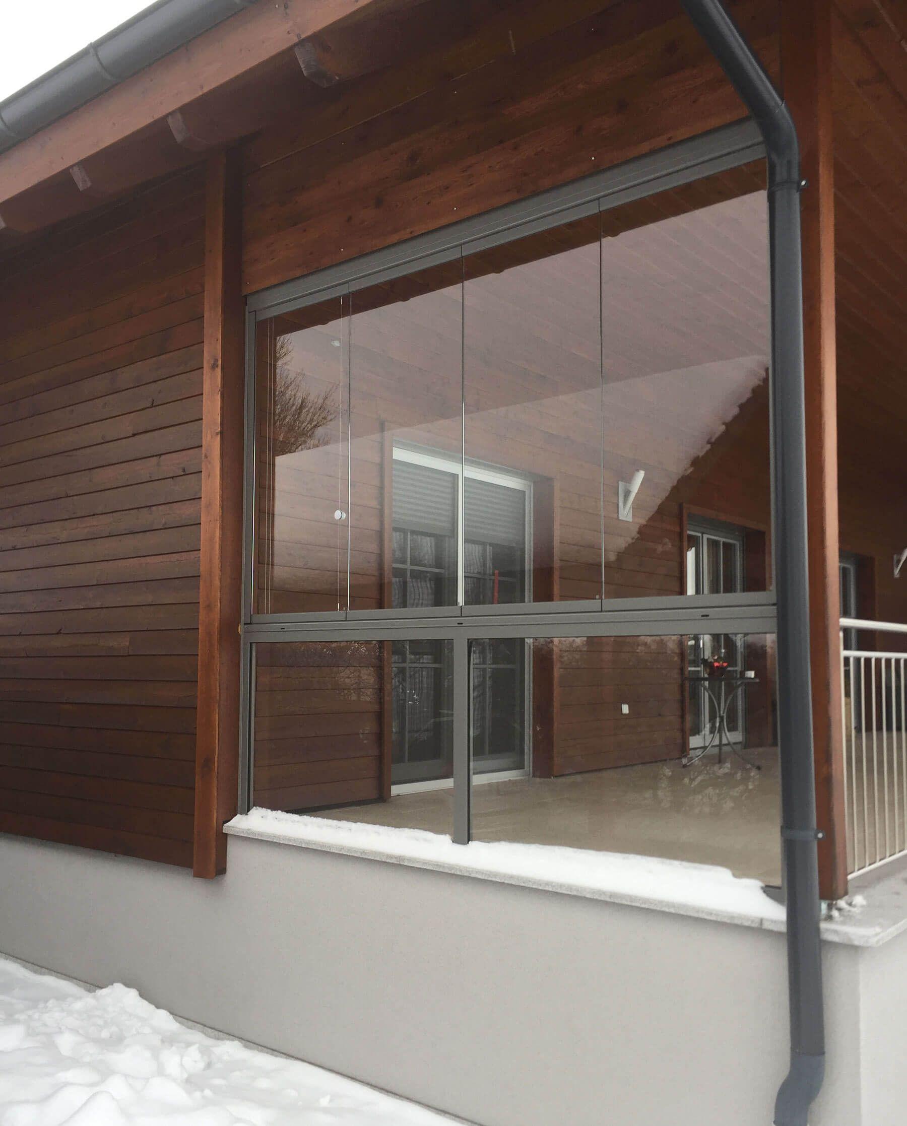 windschutz f r terrasse aus glas veranda pinterest sliding door verandas and doors. Black Bedroom Furniture Sets. Home Design Ideas
