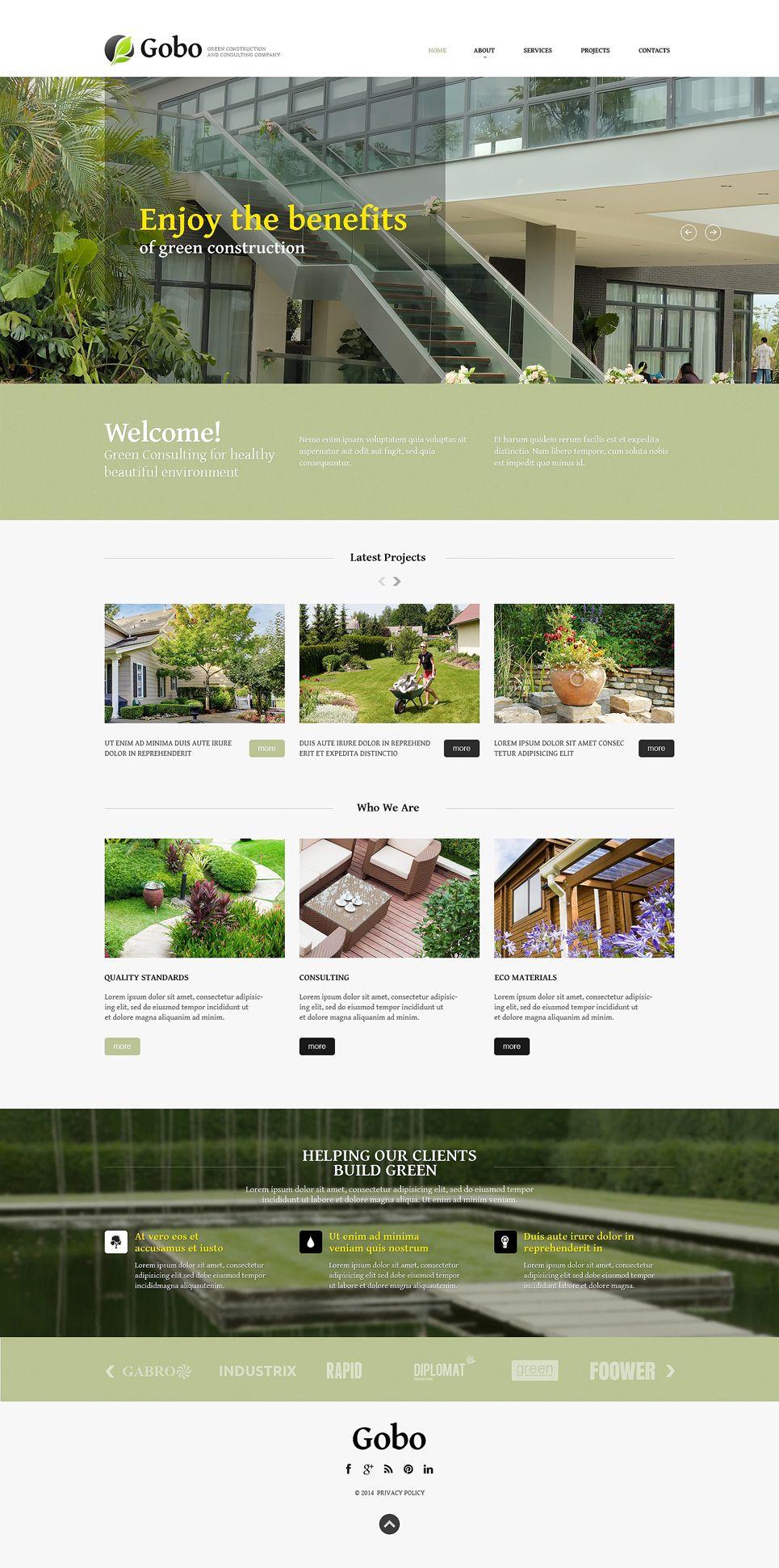 Landscape Design Responsive Website Template #49636 ...