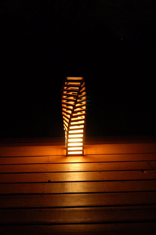 VENUS RISING LAMP 36 architect design wood lamp geometric