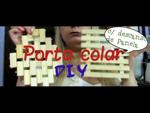 Diy - Porta colares com descanso de panela - Desabafo.com - YouTube