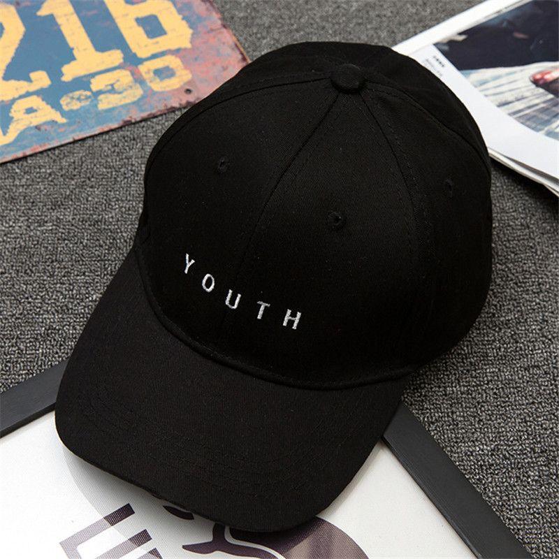 8733118b33e 2017SnapBack Unisex Embroidery Youth Letter Baseball Cap Boys Girls  Snapback Hip Hop Flat Hat Black White