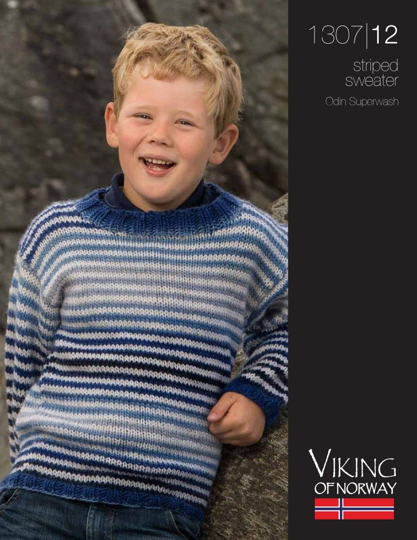 Odin Superwash Striped Sweater – 1307-12 | Knitting Fever Yarns ...