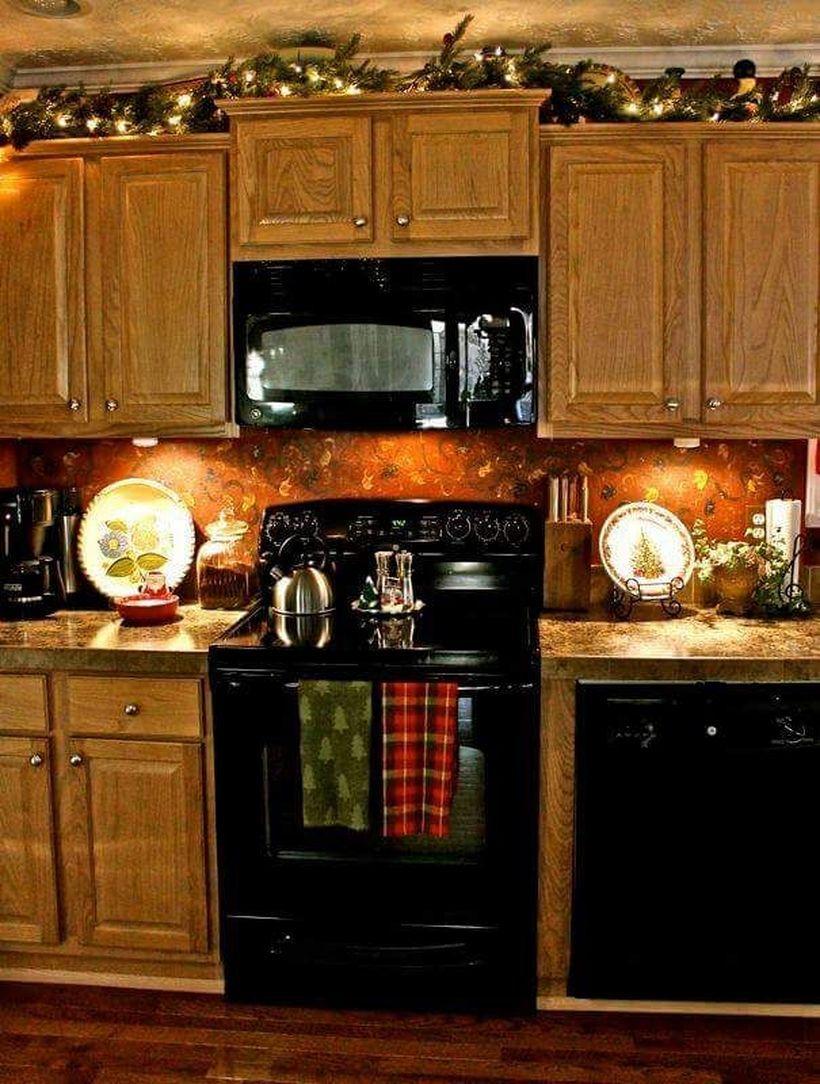 52 Best Christmas Kitchen Cabinet Decorating Ideas Somedecor Com Christmas Apartment Christmas Decor Diy Christmas Kitchen