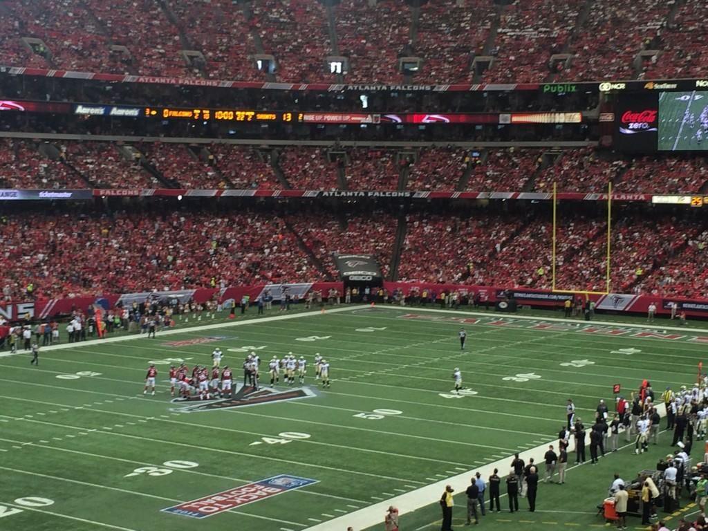 Atlanta Falcons Football Game At The Georgia Dome In Atlanta Georgia Atlanta Falcons Football Falcons Football Georgia Dome