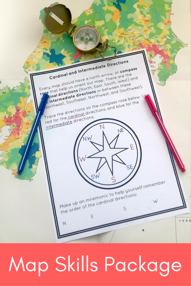 Map Skills Package Map Skills Social Studies Classroom Teacher Lesson Plans