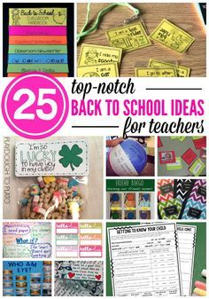 25 Awesome Back to School Ideas for Teachers. Free printables, fun get to know you activities, back to school bulletin boards... even student gift ideas!