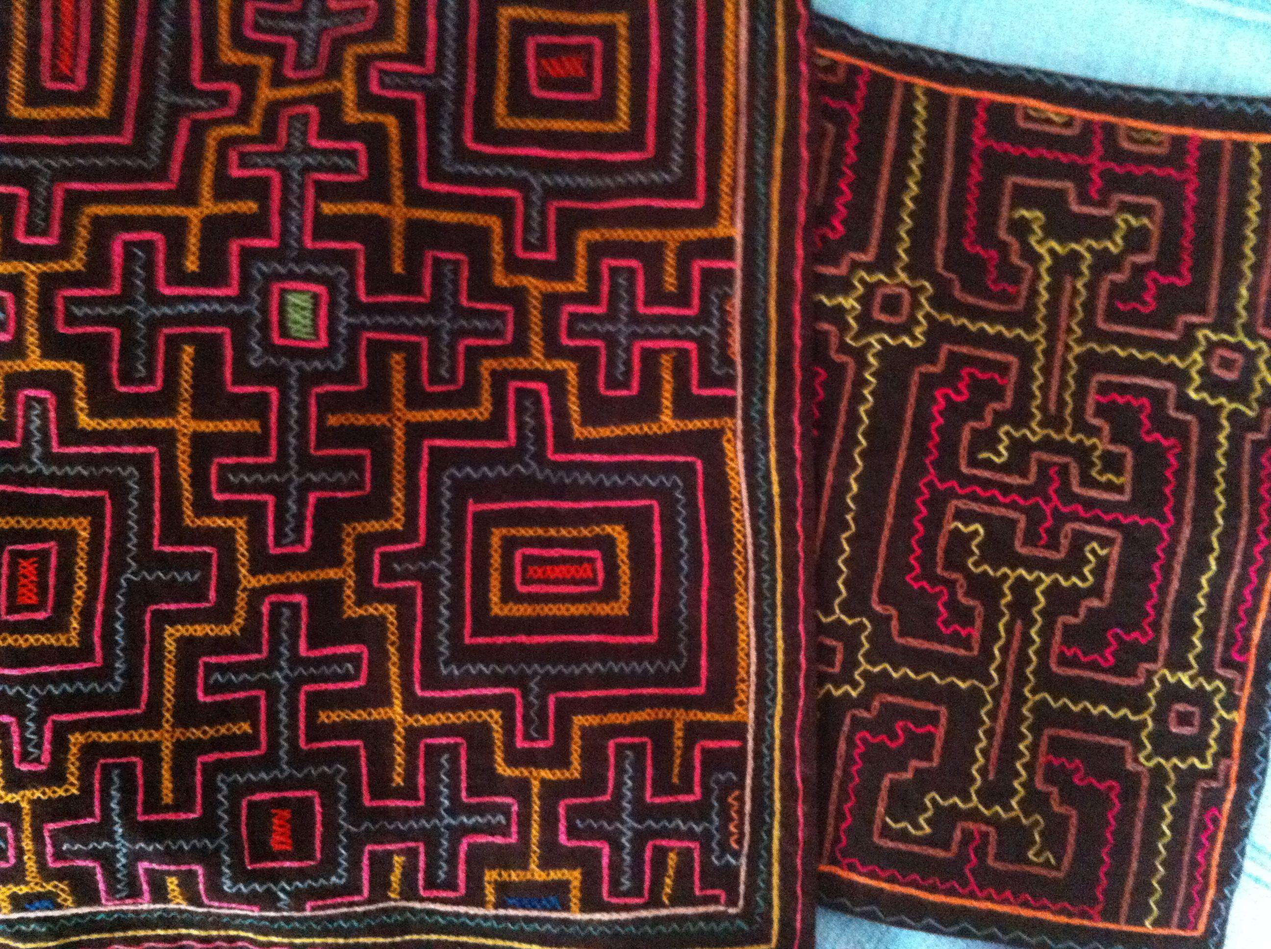 America Peru Shipibo People Embroidery Shipibo