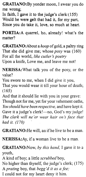 Merchant Of Venice Act 5 Scene 1 Translation Meaning Annotation 10 Http Www Aplustopper Com S Meant To Be English Reading Acting Paraphrase Pdf Download