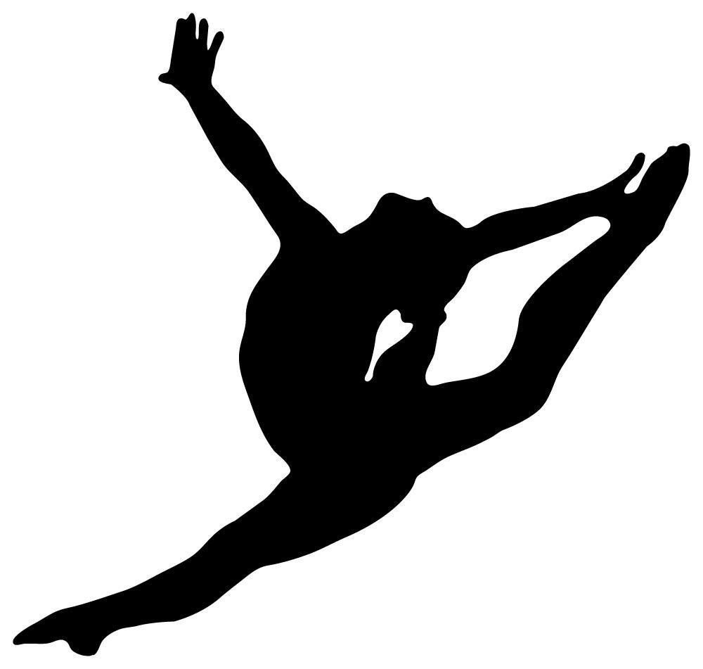 Wallmonkeys Wm54227 Gymnastics Silhouette Style Graceful