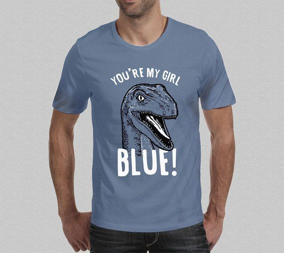 ad0ea1ef65580 Guys T-Shirt Blue Raptor Tee inspired by Jurassic World suitable for Jurassic  Park/Dinosaur/Jurassic World fans everywhere! Got a Question?