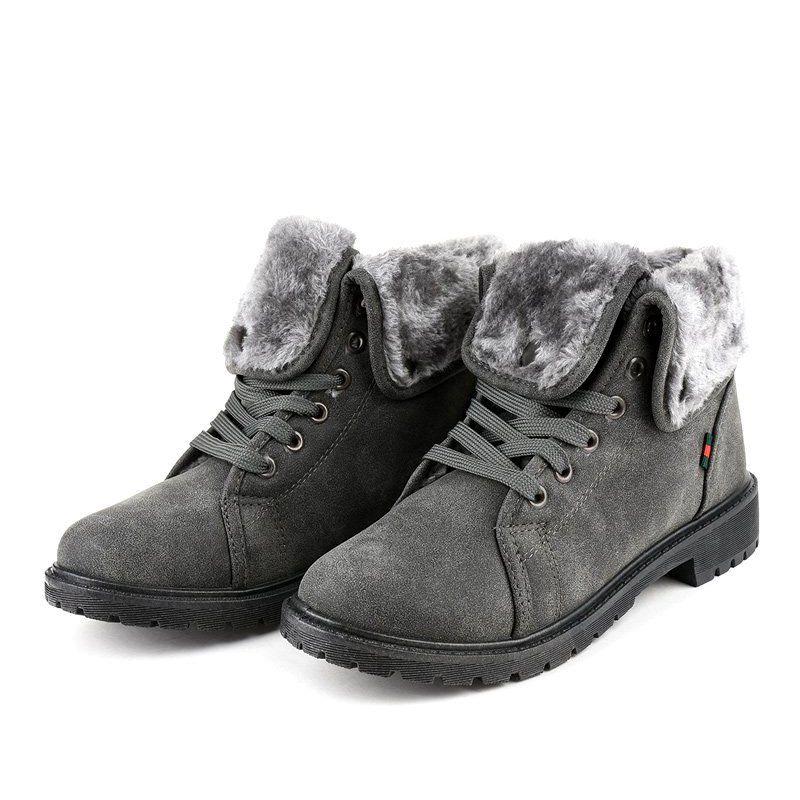 Gray Insulated Women S Shoes Tl54 3 Grey Women Shoes Boots Boot Shoes Women