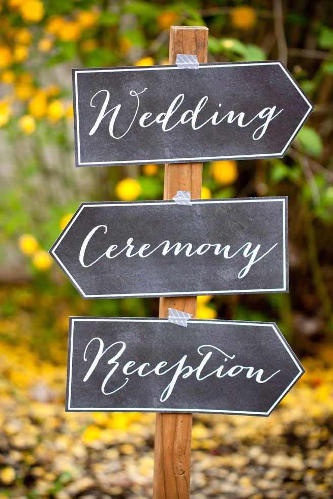 DIY Wedding Printables is part of Chalkboard wedding, Wedding planner printables, Free wedding printables, Printable wedding sign, Diy wedding, Wedding chalkboard signs - (Used in this project Free printable Chalkboard Arrows and Table Numbers in Morocco style ) Introducing the new DIY Wedding Printables from Evermine! Now