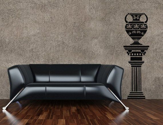 Greek Column Roman Wall Decal Egyptian Decor Vessel Urn Vase