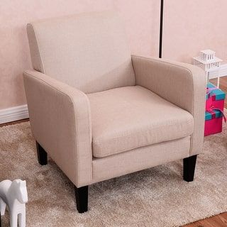 Shop For Costway Leisure Arm Chair Accent Single Sofa Fabric Upholstered Living  Room Furniture. Get