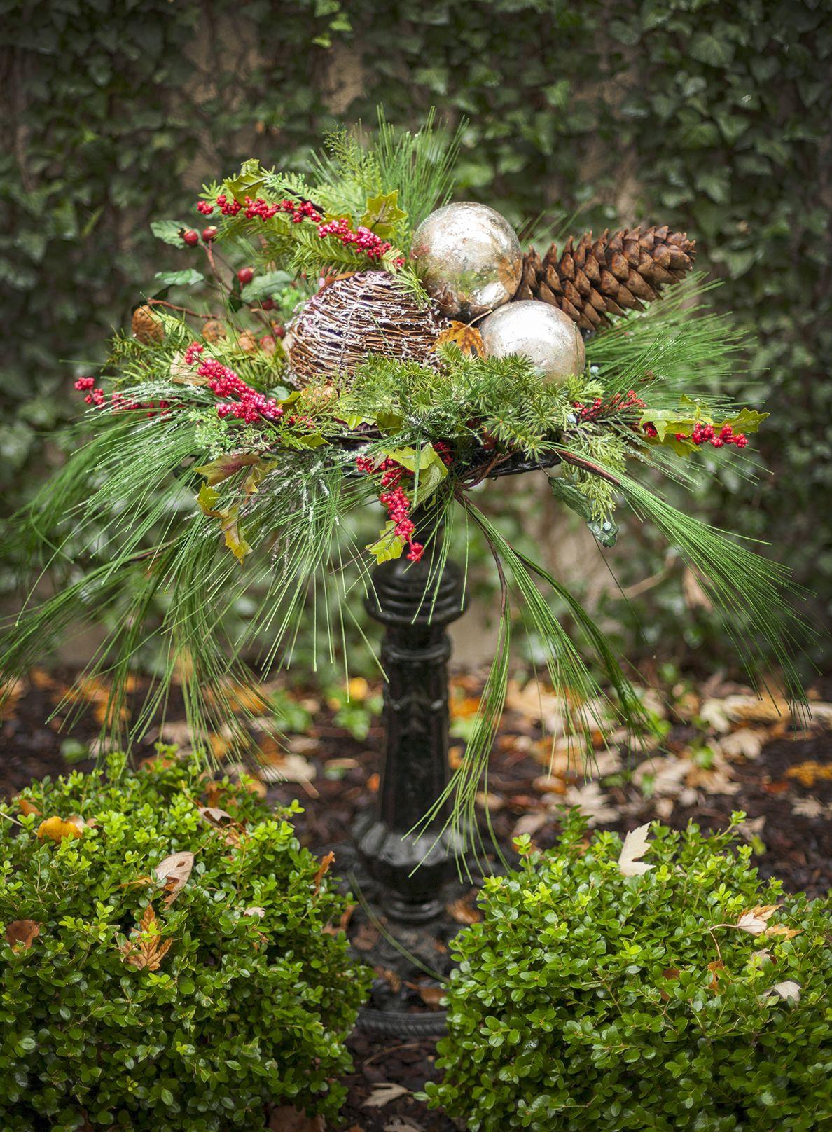 HOL-8349 Winter Birdbath by Nell Hill. I love the idea of decorating ...