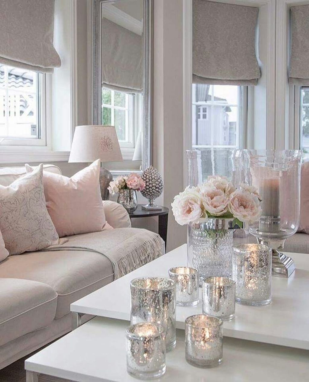 37 Cute Pink Living Room Design Ideas images