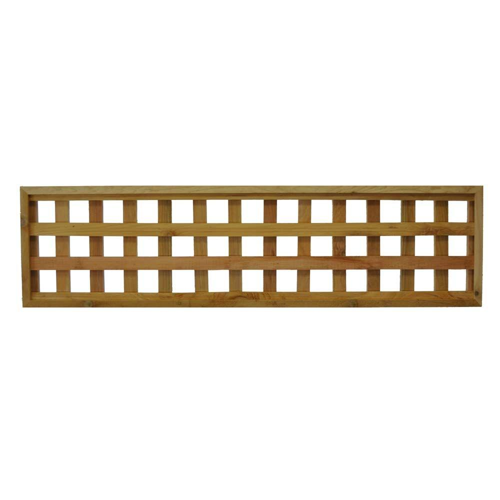 45 75 In X 12 In Checkerboard Pattern Western Red Cedar Framed Lattice Fence Panel 2 Pack 45 75 Checker The Lattice Fence Panels Lattice Fence Wood Fence