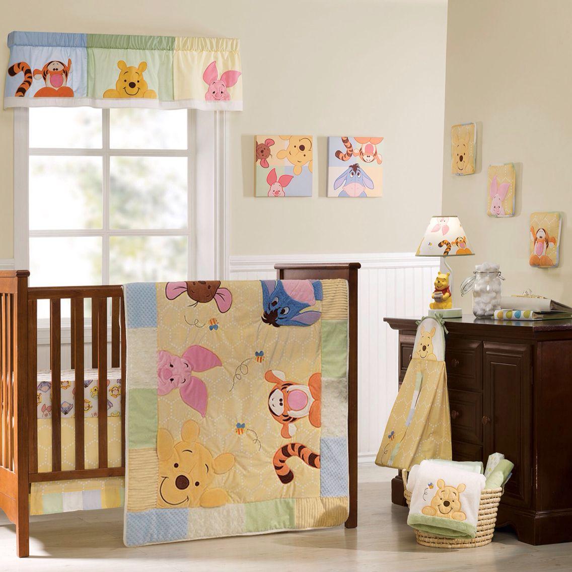 Bebe Bedding Design Pink Pooh Bumper