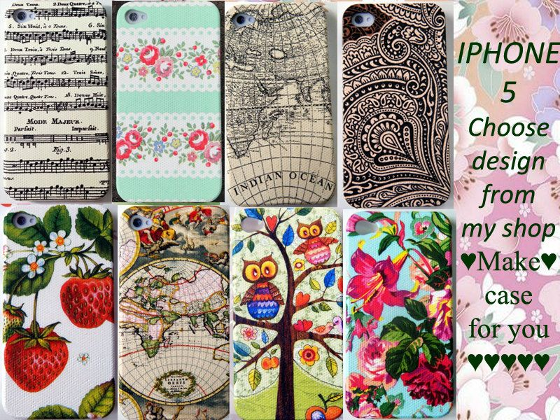 Decoupaged phone covers. My next project I guess....