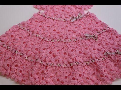Vestido Para Niña Tejido Crochet Parte 2 De 2 Vestido De