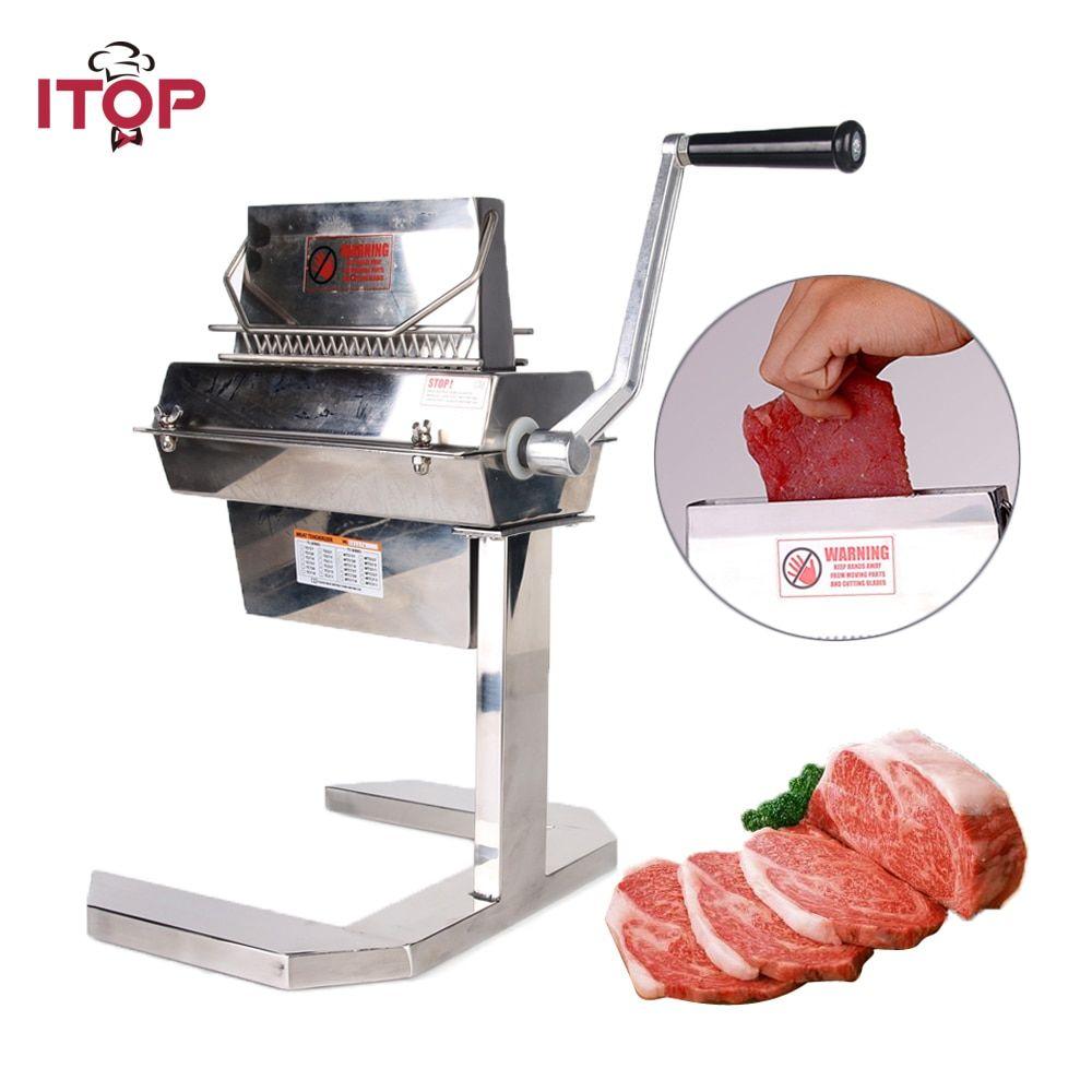 Itop manual 7 meat tenderizer stainless steel steak beaf