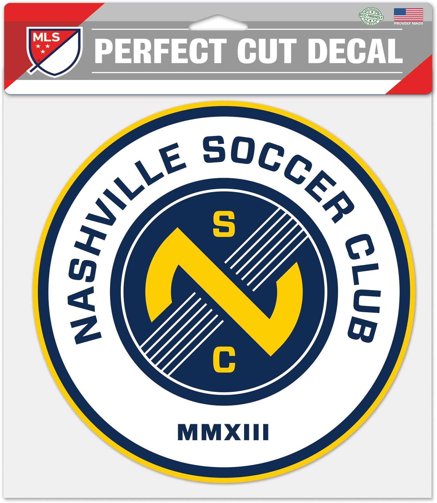 "WinCraft Nashville Soccer Club 8"" x 8"" Decal Soccer logo"
