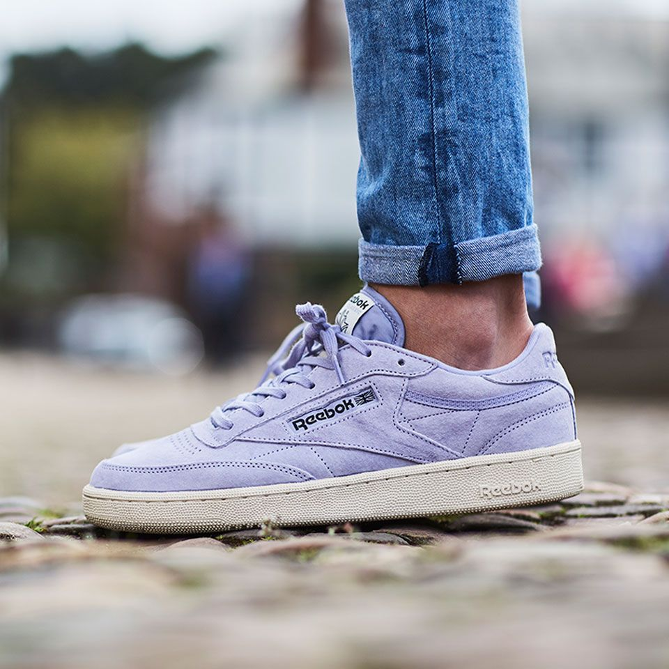 c0fe202a7f41 FOR SALE  Reebok Club C 85 Pastels Mens Suede Trainers   Sneaker Shoes in  Violet Purple - UK Size 10 Worldwide Shipping Galaxy Sports Photo Credit   ...