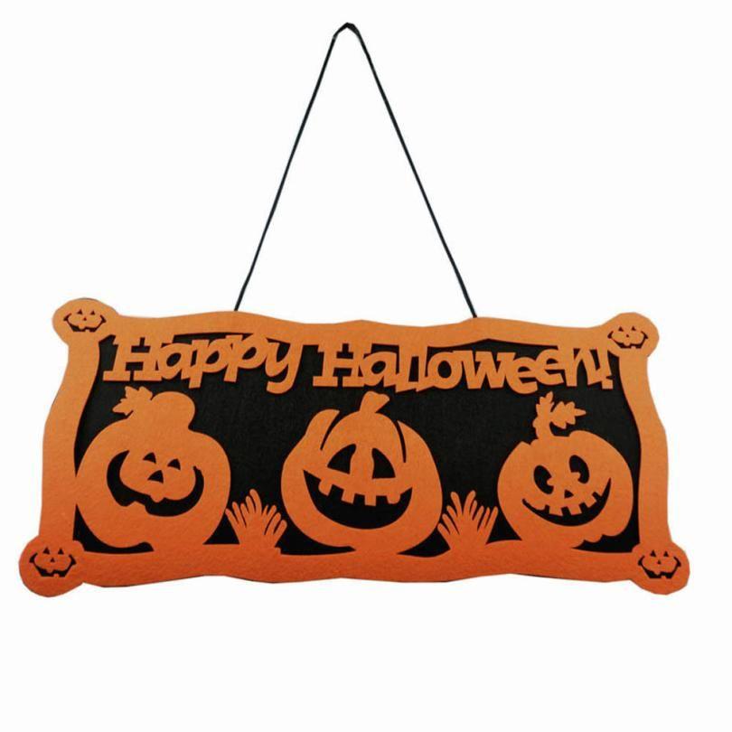 New Halloween Pumpkin Door Window Decorations Pumpkin Accessories - halloween party decorations cheap