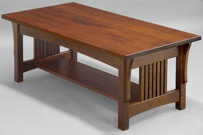 Mission Arts And Crafts Coffee Table Made Of Ash Trong 2020 Ghế