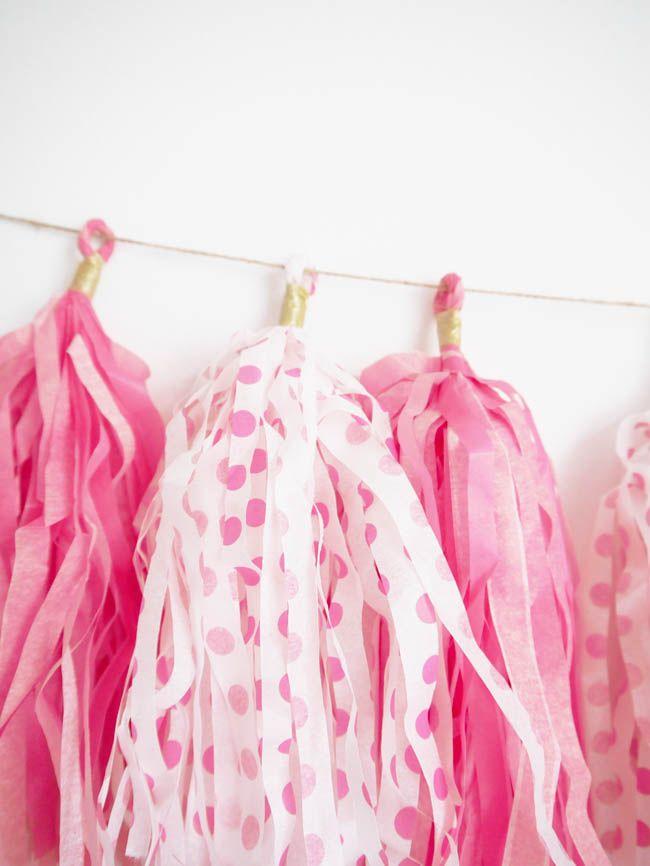 Como Hacer Una Guirnalda De Borlas De Papel De Seda Ideas - Como-hacer-guirnaldas-de-papel-de-seda